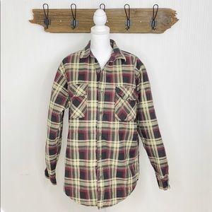 Flannel Shacket Oversized Long Plaid